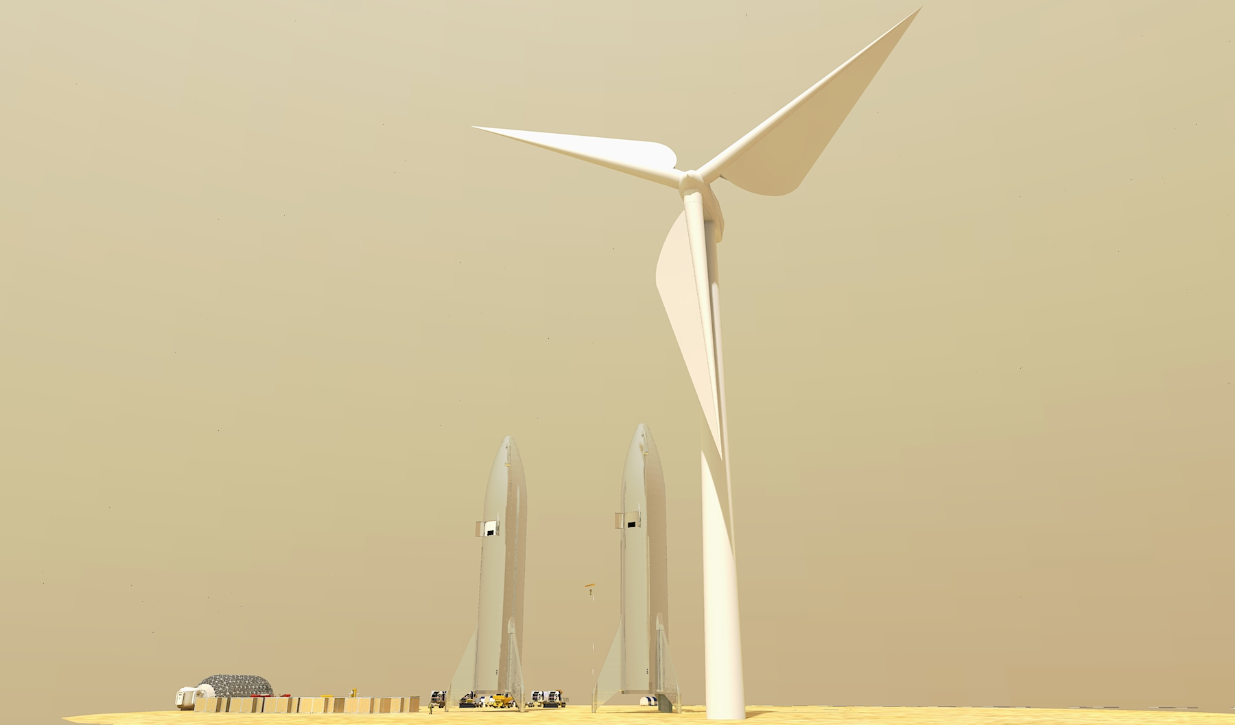Mars wind power