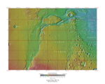 Topographical map of Lunae Palus quadrangle