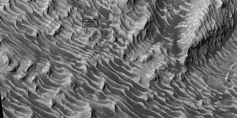 Layers in Dannielson Crater, as seen by HiRISE under HiWish program
