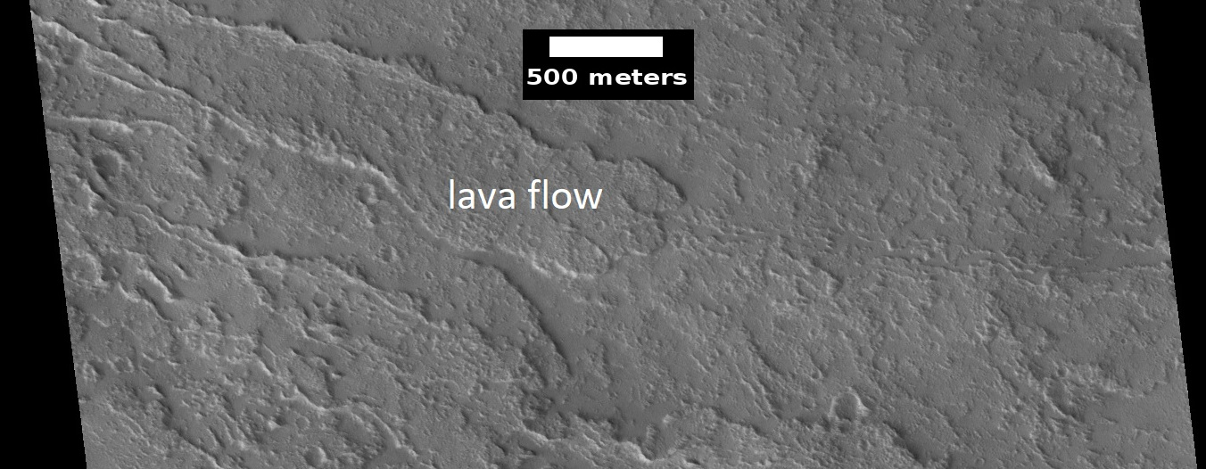 Lava flow on Olympus Mons