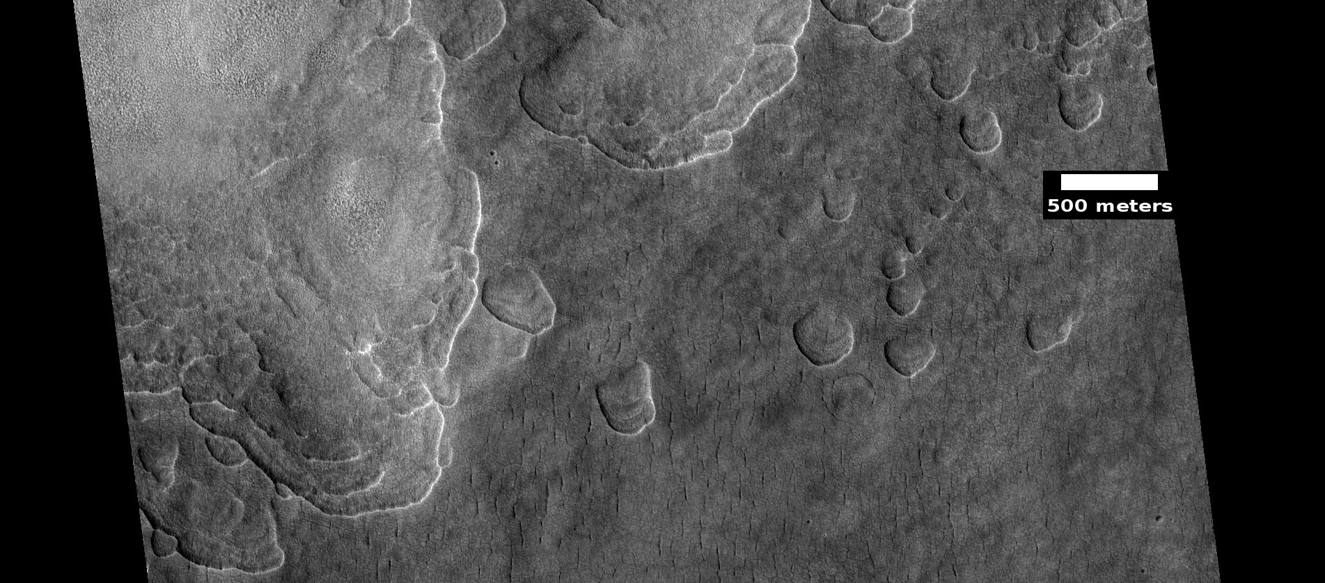 Scalloped ground, as seen by HiRISE under HiWish program