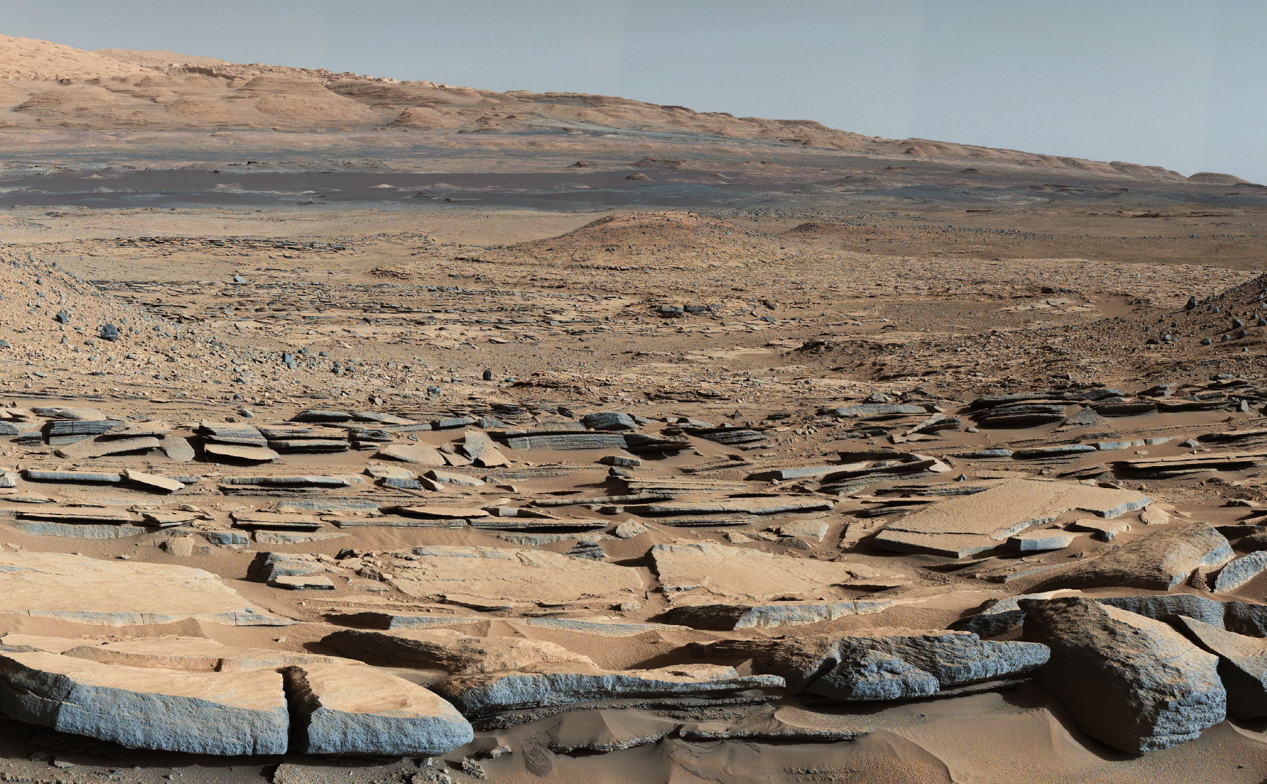 "View from the ""Kimberley"" formation on Mars taken by NASA's Curiosity rover."